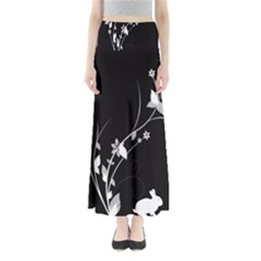 Plant Flora Flowers Composition Maxi Skirts by Simbadda