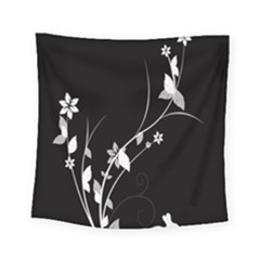 Plant Flora Flowers Composition Square Tapestry (small) by Simbadda