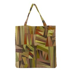 Earth Tones Geometric Shapes Unique Grocery Tote Bag by Simbadda