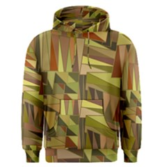 Earth Tones Geometric Shapes Unique Men s Pullover Hoodie by Simbadda
