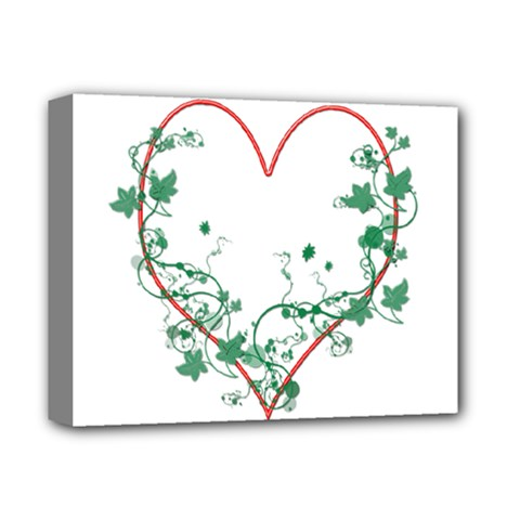 Heart Ranke Nature Romance Plant Deluxe Canvas 14  X 11  by Simbadda