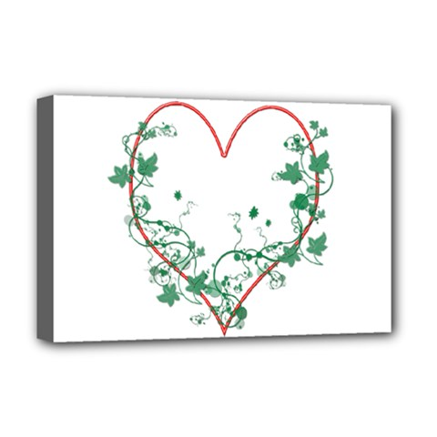 Heart Ranke Nature Romance Plant Deluxe Canvas 18  X 12   by Simbadda