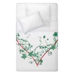 Heart Ranke Nature Romance Plant Duvet Cover (single Size) by Simbadda