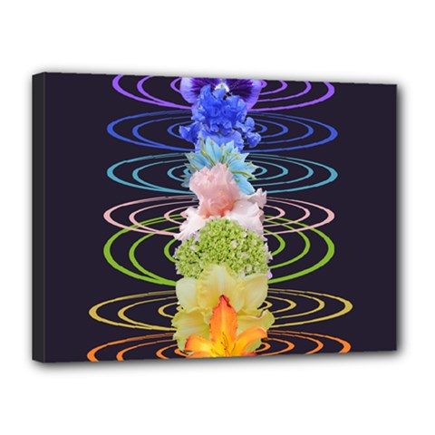 Chakra Spiritual Flower Energy Canvas 16  X 12  by Simbadda