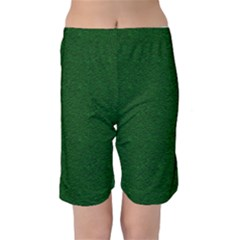 Texture Green Rush Easter Kids  Mid Length Swim Shorts by Simbadda