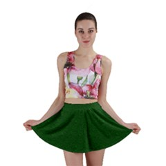 Texture Green Rush Easter Mini Skirt by Simbadda