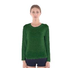 Texture Green Rush Easter Women s Long Sleeve Tee by Simbadda