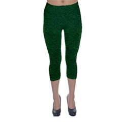 Texture Green Rush Easter Capri Winter Leggings  by Simbadda