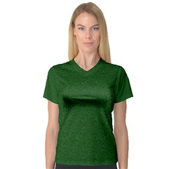 Texture Green Rush Easter Women s V Neck Sport Mesh Tee by Simbadda
