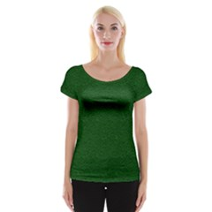Texture Green Rush Easter Women s Cap Sleeve Top by Simbadda