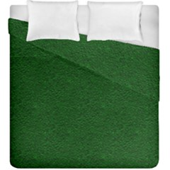 Texture Green Rush Easter Duvet Cover Double Side (king Size) by Simbadda