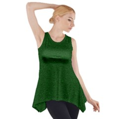 Texture Green Rush Easter Side Drop Tank Tunic by Simbadda