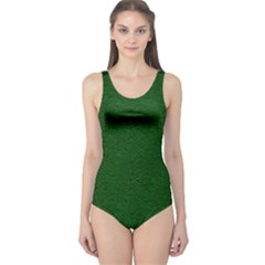 Texture Green Rush Easter One Piece Swimsuit