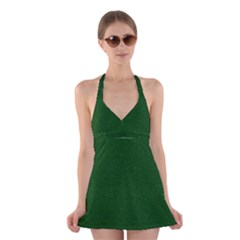 Texture Green Rush Easter Halter Swimsuit Dress by Simbadda