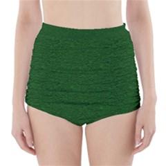 Texture Green Rush Easter High Waisted Bikini Bottoms by Simbadda