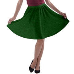 Texture Green Rush Easter A Line Skater Skirt by Simbadda