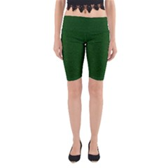 Texture Green Rush Easter Yoga Cropped Leggings by Simbadda