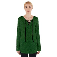 Texture Green Rush Easter Women s Tie Up Tee by Simbadda