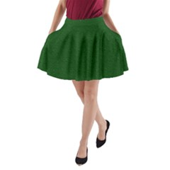 Texture Green Rush Easter A Line Pocket Skirt by Simbadda