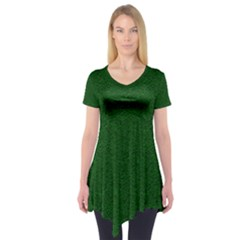 Texture Green Rush Easter Short Sleeve Tunic  by Simbadda