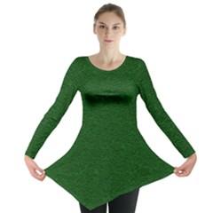 Texture Green Rush Easter Long Sleeve Tunic  by Simbadda