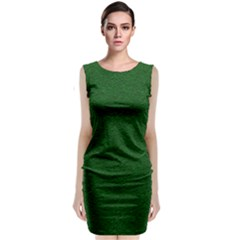 Texture Green Rush Easter Classic Sleeveless Midi Dress by Simbadda