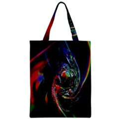 Abstraction Dive From Inside Zipper Classic Tote Bag by Simbadda