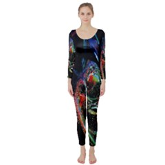 Abstraction Dive From Inside Long Sleeve Catsuit by Simbadda