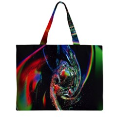 Abstraction Dive From Inside Zipper Large Tote Bag by Simbadda