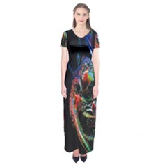 Abstraction Dive From Inside Short Sleeve Maxi Dress by Simbadda