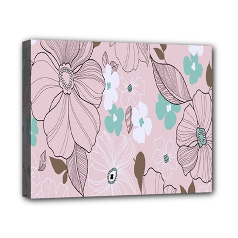 Background Texture Flowers Leaves Buds Canvas 10  X 8  by Simbadda