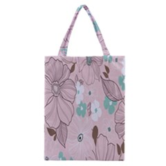 Background Texture Flowers Leaves Buds Classic Tote Bag by Simbadda