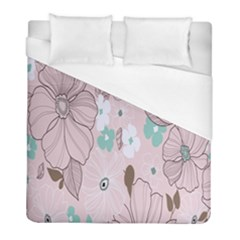 Background Texture Flowers Leaves Buds Duvet Cover (full/ Double Size) by Simbadda