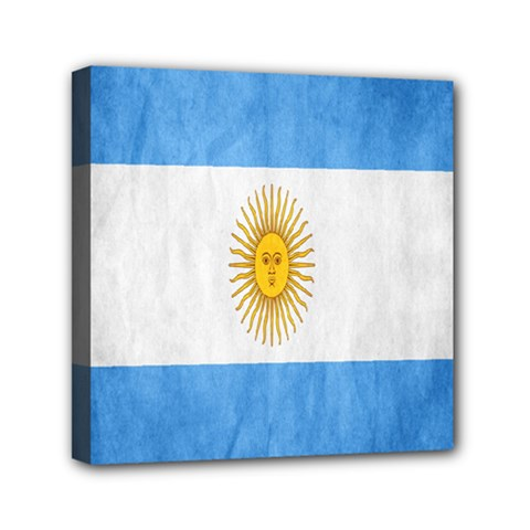 Argentina Texture Background Mini Canvas 6  X 6  by Simbadda