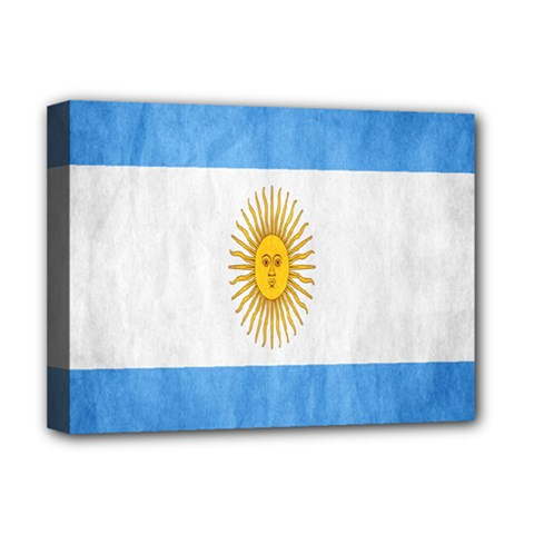 Argentina Texture Background Deluxe Canvas 16  X 12   by Simbadda