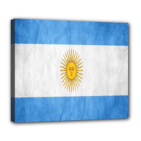 Argentina Texture Background Deluxe Canvas 24  X 20   by Simbadda