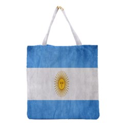 Argentina Texture Background Grocery Tote Bag by Simbadda