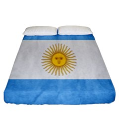 Argentina Texture Background Fitted Sheet (king Size) by Simbadda