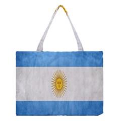 Argentina Texture Background Medium Tote Bag by Simbadda
