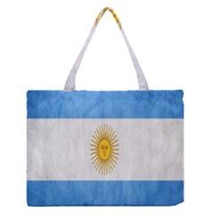 Argentina Texture Background Medium Zipper Tote Bag by Simbadda