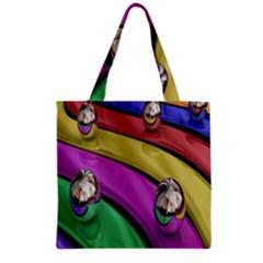 Balloons Colorful Rainbow Metal Grocery Tote Bag by Simbadda