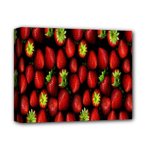 Berry Strawberry Many Deluxe Canvas 14  X 11  by Simbadda