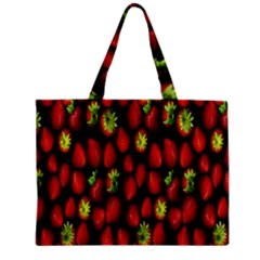 Berry Strawberry Many Zipper Mini Tote Bag