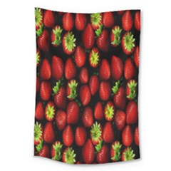 Berry Strawberry Many Large Tapestry by Simbadda