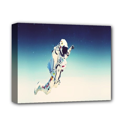 Astronaut Deluxe Canvas 14  X 11  by Simbadda