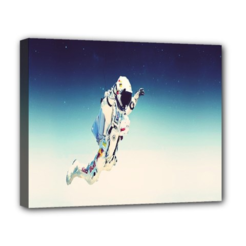 Astronaut Deluxe Canvas 20  X 16   by Simbadda
