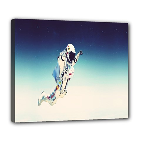 Astronaut Deluxe Canvas 24  X 20   by Simbadda