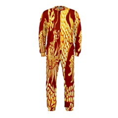 Fabric Pattern Dragon Embroidery Texture OnePiece Jumpsuit (Kids)
