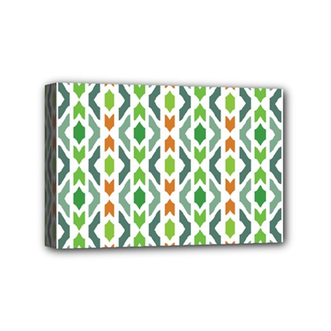 Chevron Wave Green Orange Mini Canvas 6  X 4  by Alisyart
