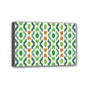 Chevron Wave Green Orange Mini Canvas 6  x 4  View1